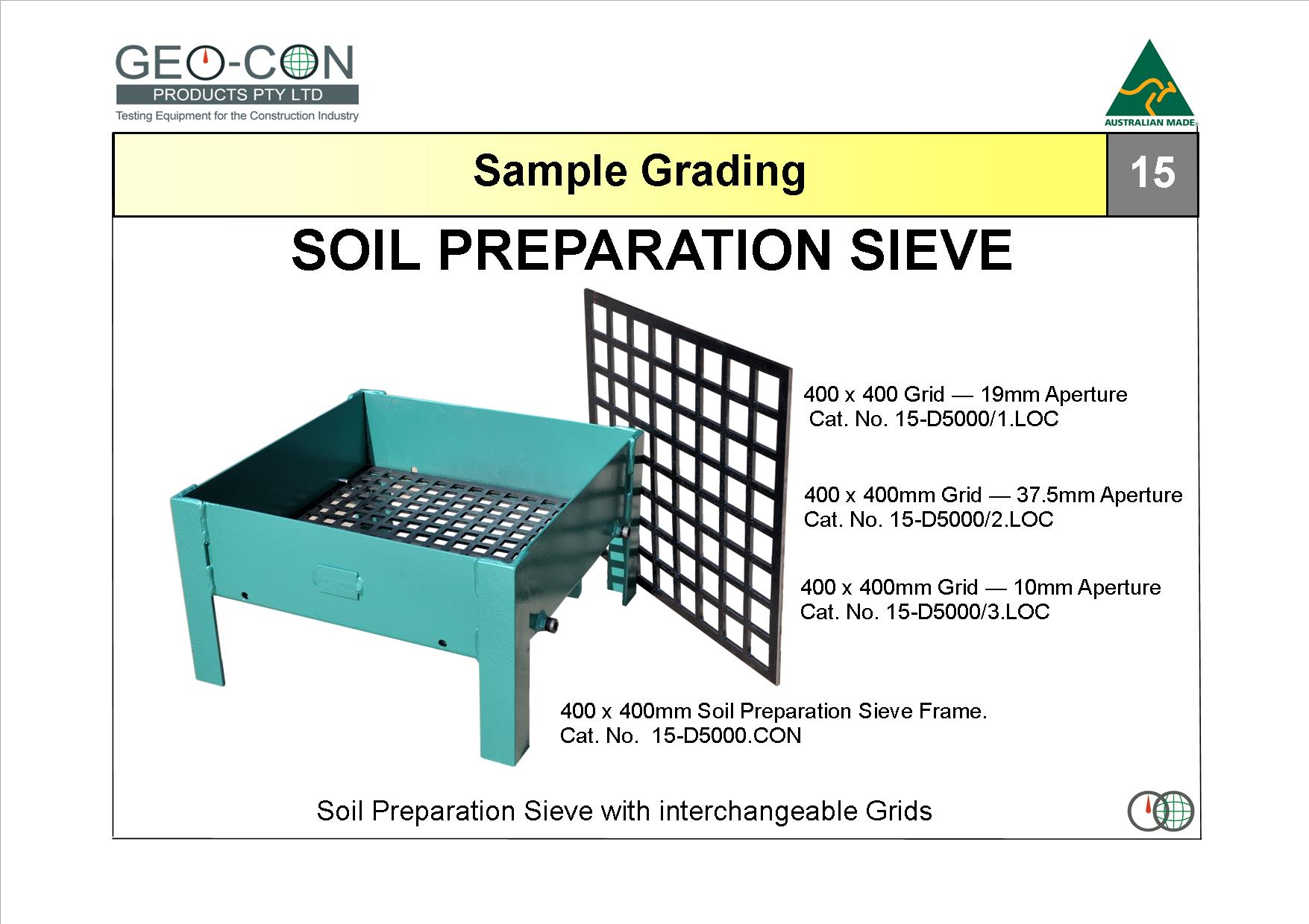 Drying weighing and grading geo con products for Soil grading